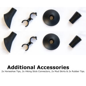 Additional accessories that are included with the iZarin® Nordic walking sticks