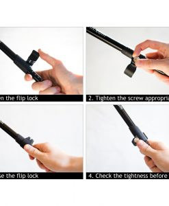 Instructions on how to safely adjust your Nordic walking sticks