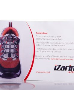 Installation instructions on how to fit the no-tie shoe laces quickly and easily
