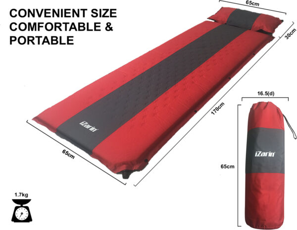 Self Inflating Camping Mat and Carry Bag Specifications