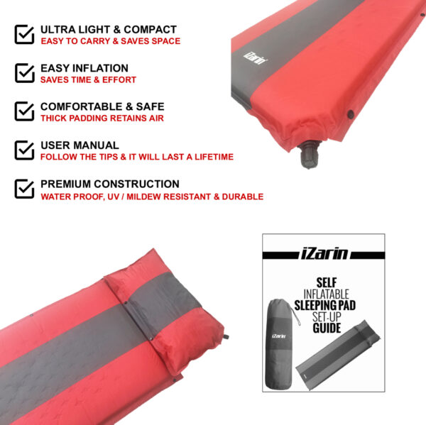 Self Inflating Camping Mat with User Manual