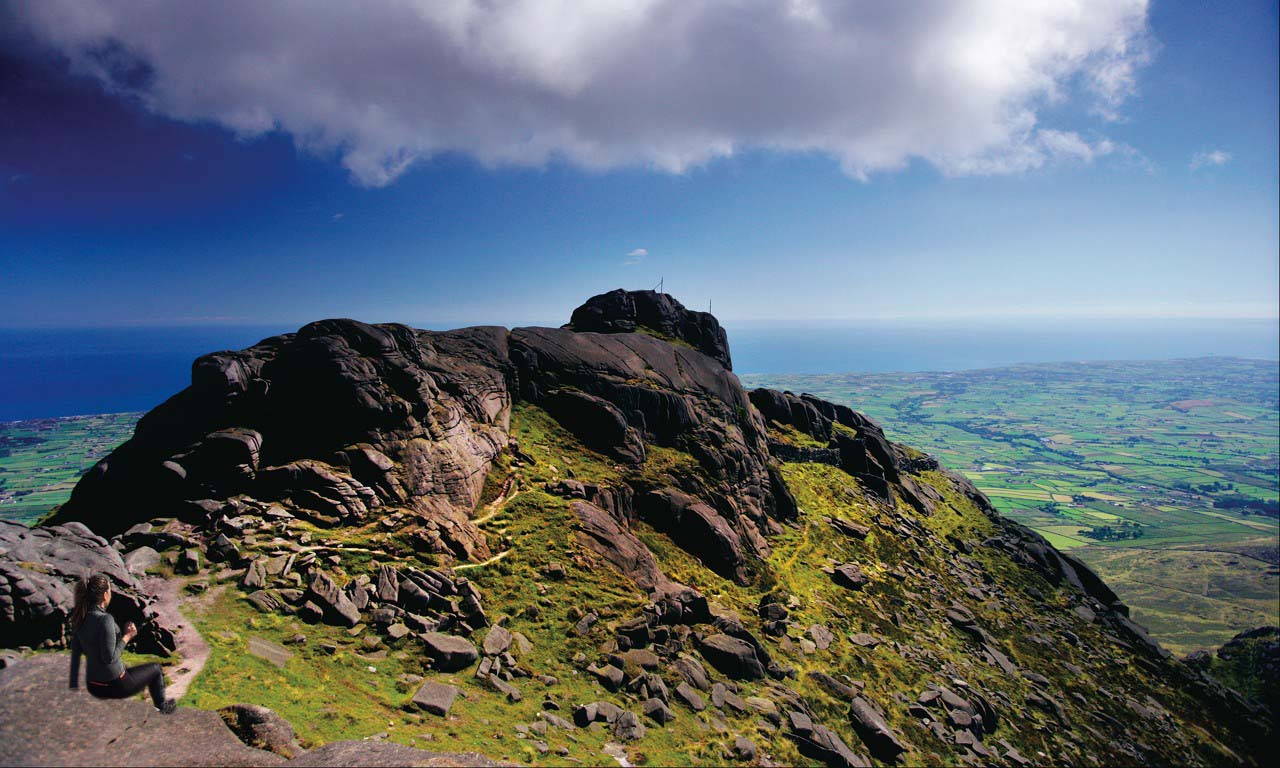 Long Distance Walks in Mourne Mountains in Northern Ireland