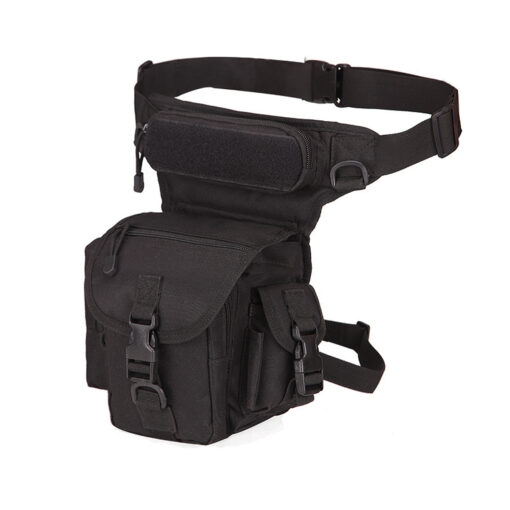 waist drop belt leg bag - black