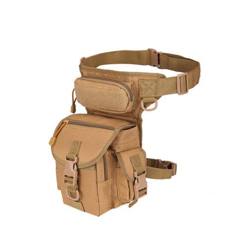 waist drop belt leg bag - Tan