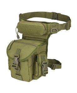 waist drop belt leg bag - army green
