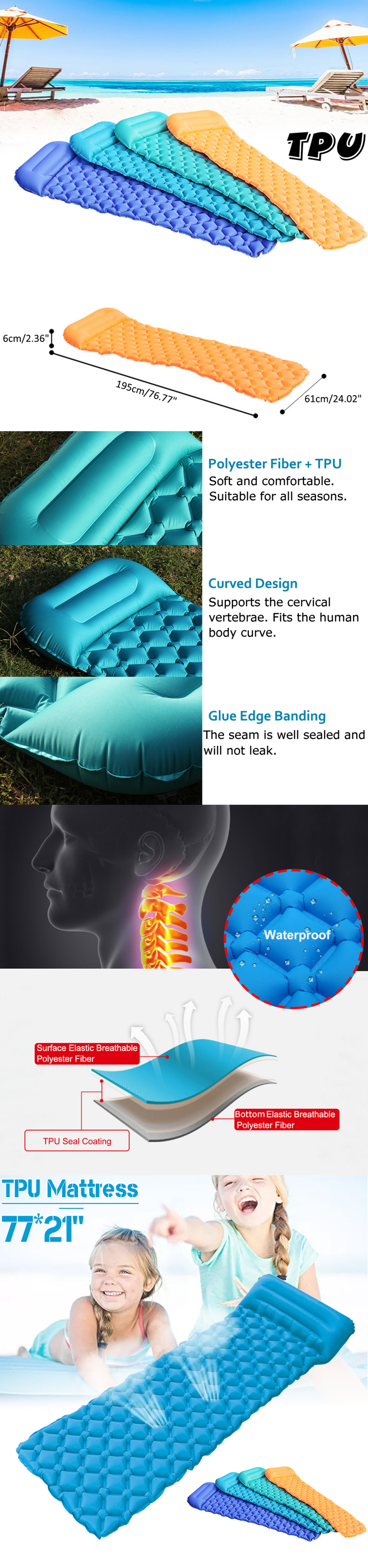 Inflatable Sleeping Mat - Main Features