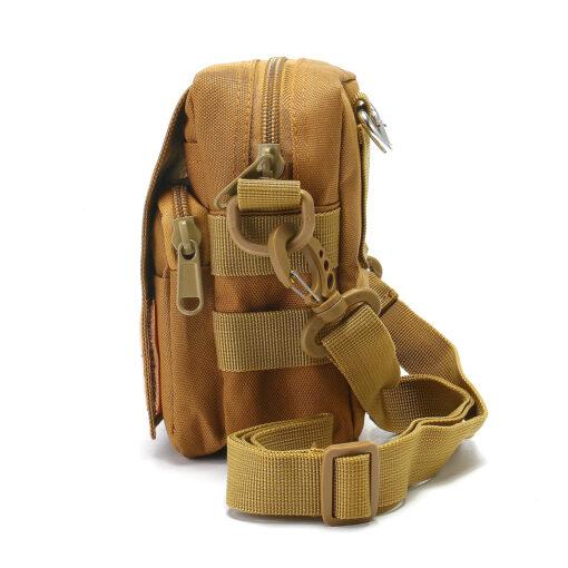 Travel Bum Bag Side View Khaki
