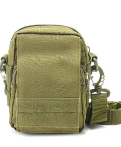 Travel Bum Bag Front View Army Green