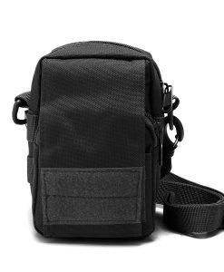 Travel Bum Bag Front View Black
