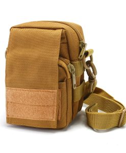 Travel Bum Bag Front View Khaki