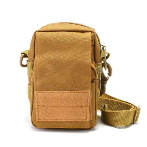 Travel Bum Bag Sew Patches on Front Khaki