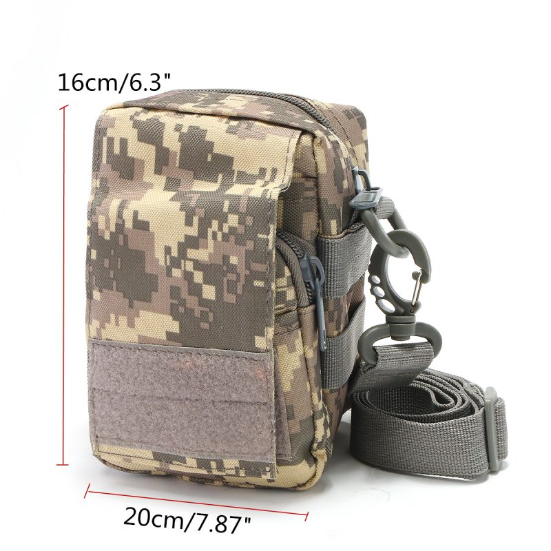 Travel Bum Bag Dimensions - ACU