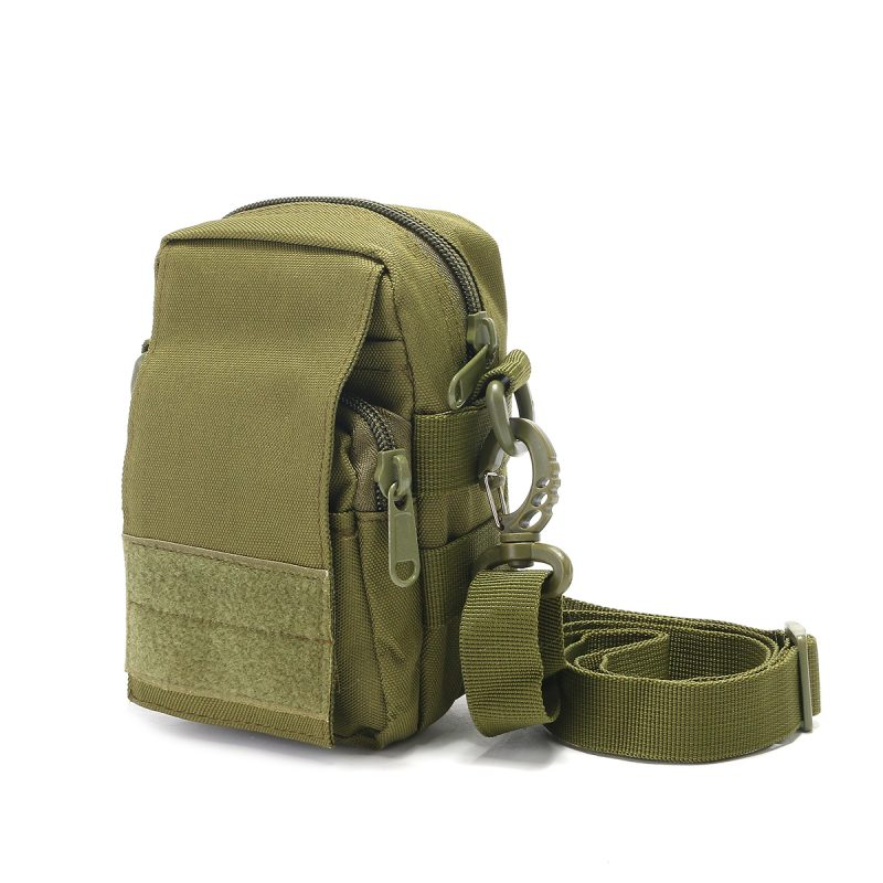 Travel Bum Bag Front 3D View - Army Green