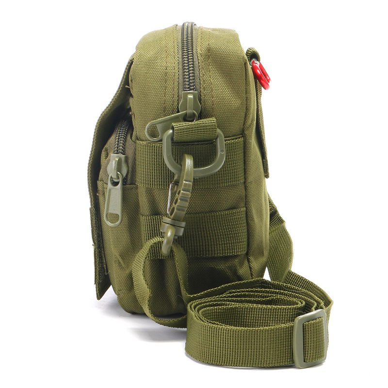 Travel Bum Bag Side View - Army Green