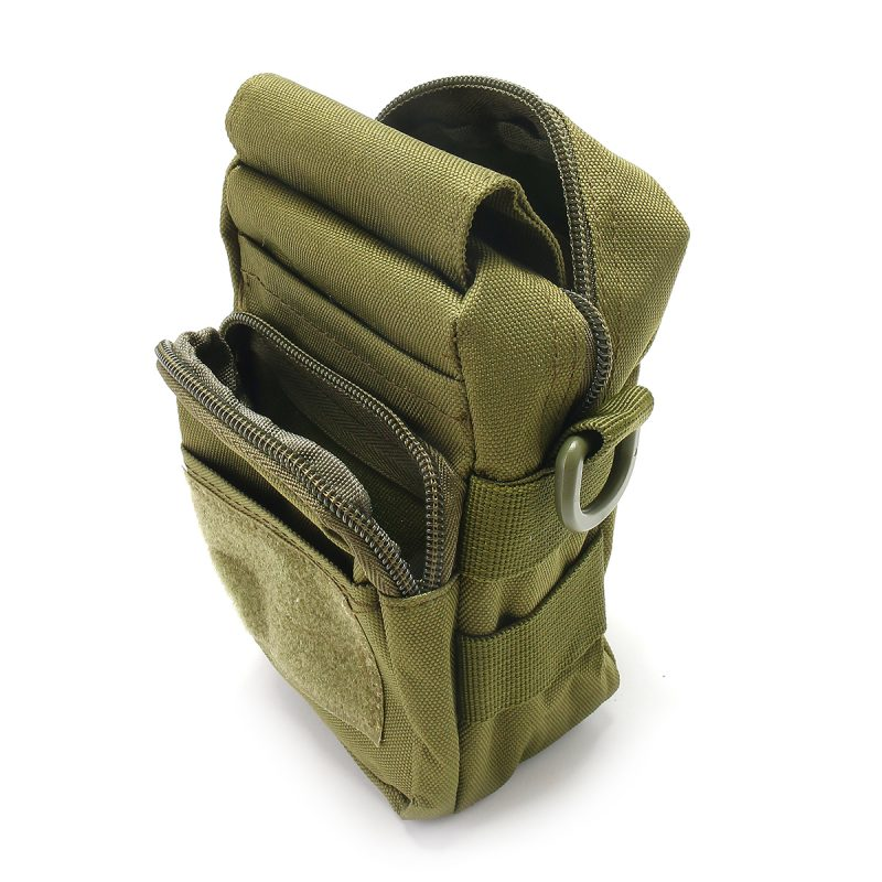 Travel Bum Bag Storage Compartments - Army Green