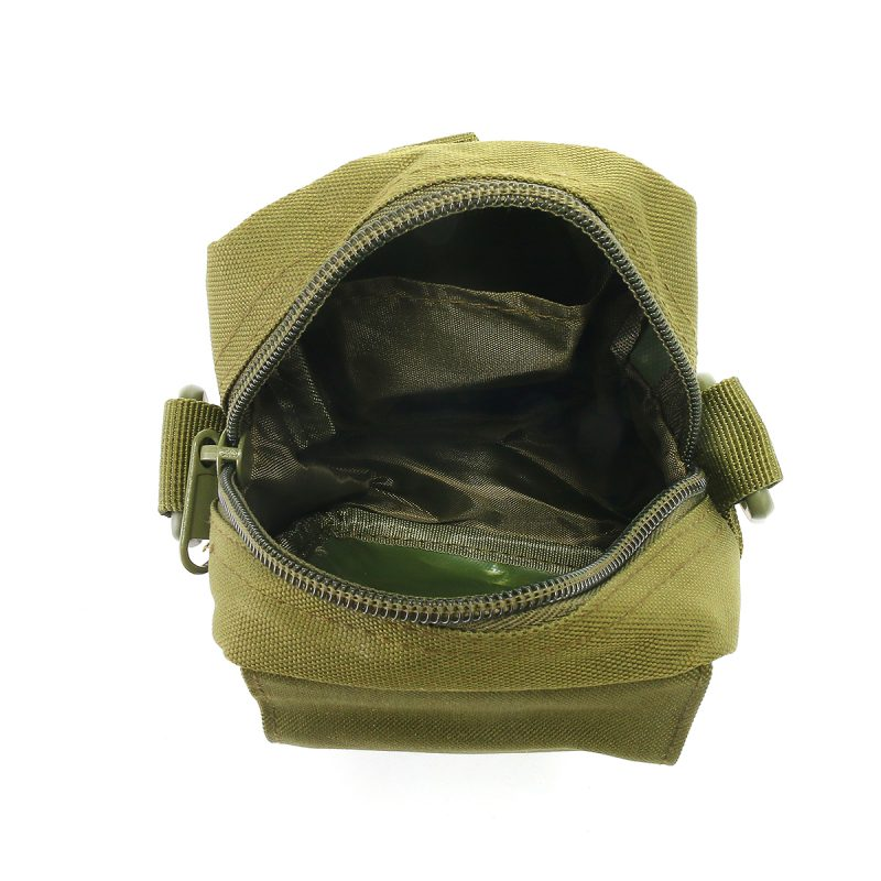 Travel Bum Bag Top Open View - Army Green