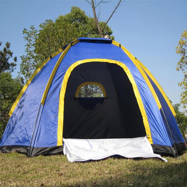 4 man pop up tent front door