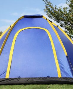 4 man pop up tent blue