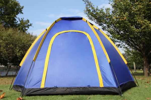 4 man pop up tent blue