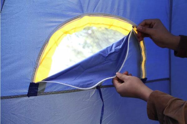 4 man pop up tent zipper window