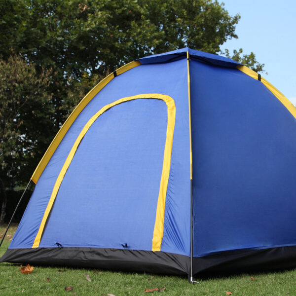 Front view of camping tent
