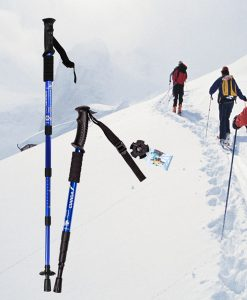 Hiking Stick / People Hiking in Snow