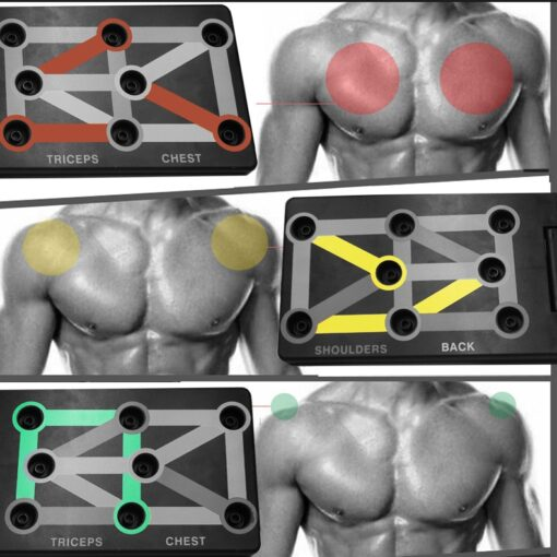 Push Up Equipment - Triceps, Chest, Shoulders, Back