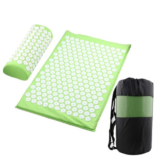 Acupressure Mat, Pillow & Bag - Lime Green