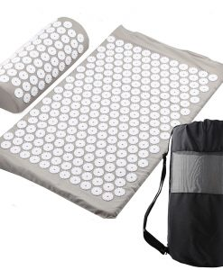 Acupressure Mat, Pillow & Bag - Grey