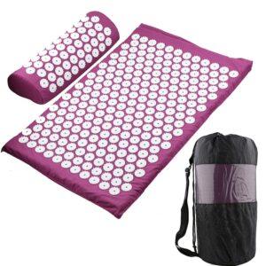 Acupressure Mat, Pillow & Bag - Purple