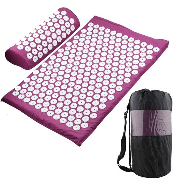 Acupressure Mat, Pillow & Bag - Purple