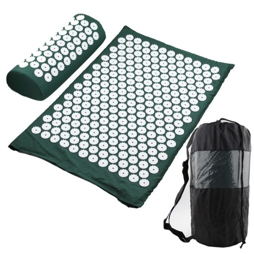 Acupressure Mat, Pillow & Bag - Green