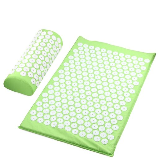 Acupressure Mat & Pillow - Lime Green