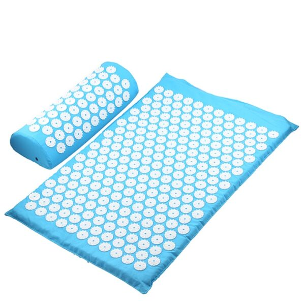 Acupressure Mat & Pillow - Sky Blue