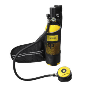 Scuba Diving Oxygen Tank / 1L Cylinder / Underwater Set / Adapter & Storage Bag