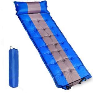Self Inflating Sleeping Mat with Pillow & Carry Bag